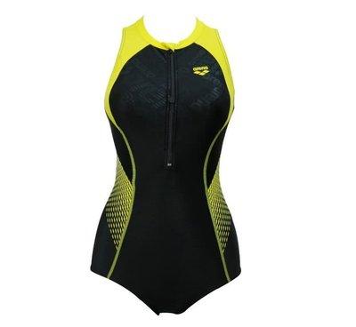 ~BB泳裝~  arena Logo TOUGHSUIT-FLEX 競賽款立領連身三角泳衣 TMS8120W