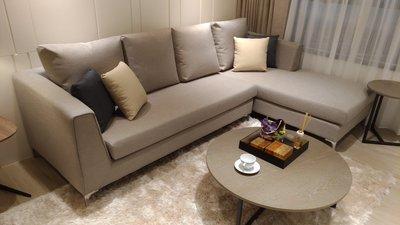 【凱迪家具】1018-638 愛瑪亞麻L型沙發-訂製款/可訂製/可刷卡/大雙北市區滿五千元免運費