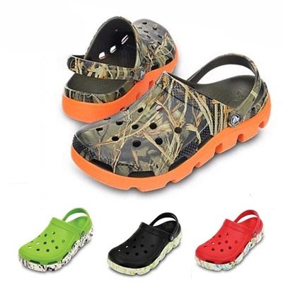 全館特惠 Crocs卡駱馳 炫彩迷彩動力迪特 戶外沙灘鞋 運動迪特 洞洞鞋 男女休閒鞋 情侶鞋 透氣防滑 男女海灘鞋