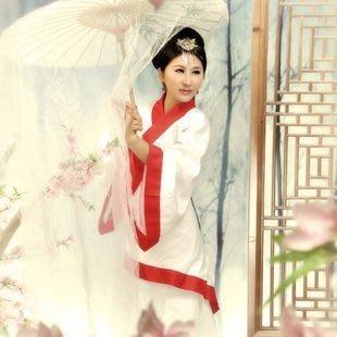 【優上精品】古裝服裝仙女白色漢服唐裝比翼飛古代男女情侶裝舞臺話劇影樓寫真(Z-P3243)