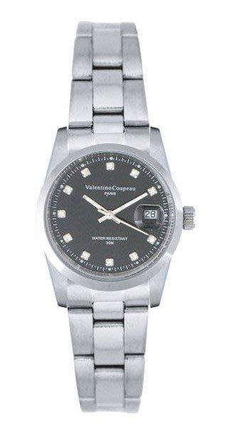 (六四三精品)Valentino coupeau(真品)(全不銹鋼)精準女錶(附保証卡)12168SL-16