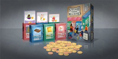 骰子人桌遊-怪奇販賣機 Strange Vending Machine(繁)派對.家庭親子(記憶.交易)