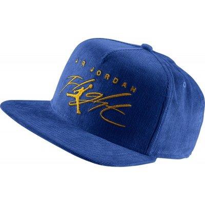 =CodE= NIKE AIR JORDAN FLIGHT SNAPBACK 電繡燈芯絨棒球帽(藍)576579-474
