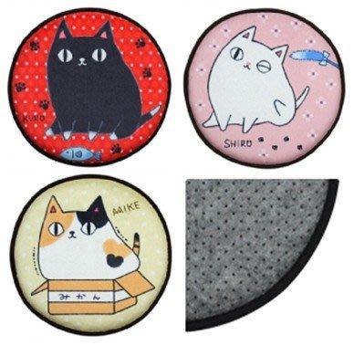 日本貓咪三兄弟 可愛坐墊