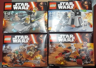 MISB LEGO STARWARS Battle Pack 75131,75132,75133,75134
