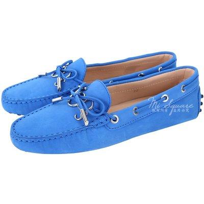 米蘭廣場 TOD'S Gommino 新版字母磨砂牛皮休閒豆豆鞋(女鞋/亮藍色) 1820292-23
