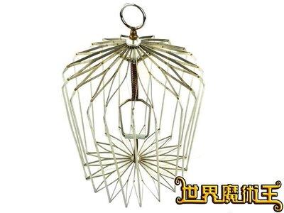 【G0123世界魔術王】魔術師必備道具 小鳥籠(銀) 批發價1120元 【附教學片賣場】
