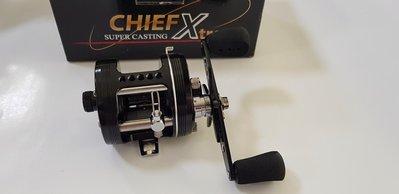 【NINA釣具】OMOTO 超級酋長 CHIEF Xtreme 530CX/531CX 右手/左手 雙軸 雷強輪 捲線器