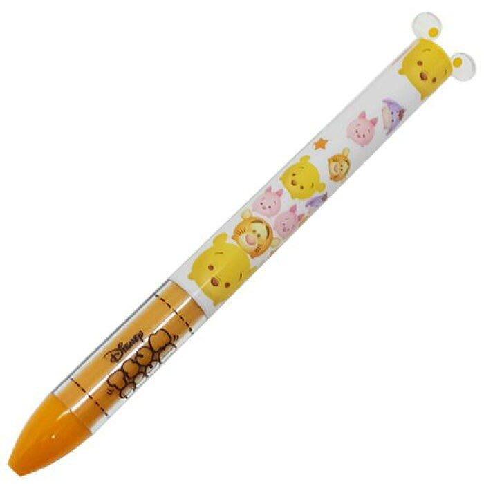 Co媽日本精品代購 現貨 日本製 日本限定 迪士尼 TSUM TSUM 小熊維尼 雙色 原子筆 日本 mimi 原子筆 二色筆 雙色筆