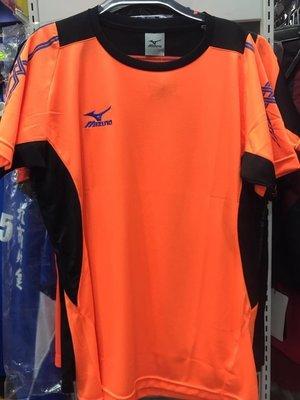 【憲憲之家】美津濃 男女款排球上衣排汗衣V2TA5G1155橘黑