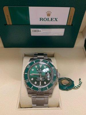 Rolex 116610lv 勞力士綠水鬼