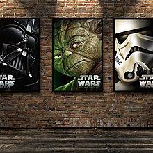 星球大戰裝飾畫書房臥寢室貼掛畫海報定做武士歸來6部曲(不含框)