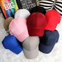 純色棒球帽 老帽 鴨舌帽 棒球帽 鴨舌帽 帽子 彎延帽 情侶帽 情侶棒球帽 韓妞必備老帽 351