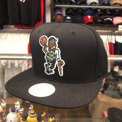 BEETLE PLUS 全新 MITCHELL&NESS NBA 波士頓 賽亞提克 全黑 SNAPBACK 後扣棒球帽