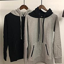 【傑森精品】日本高端 日式 NUMBER (N)INE DENIM 撞色拼接設計 連帽 拉鏈口袋 長袖T恤 Tee 衛衣