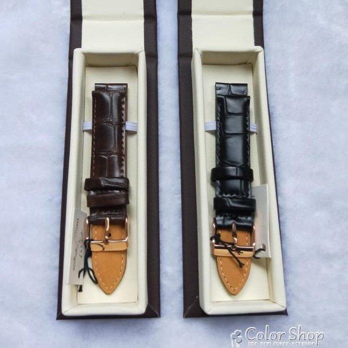 手錶帶錶帶男女丹尼爾惠靈頓錶帶皮帶皮帶真皮牛皮適用原裝dw手錶皮帶  一件免運