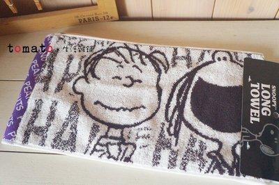 ˙TOMATO生活雜鋪˙日本進口人氣夏季限定美式風格史努比圖騰態圖騰純棉細長運動毛巾(現貨+預購)