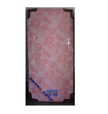 超硬鎢絲鋼線緹花布3尺單人彈簧床墊可選花色台灣製造(台北縣市包送到府免運費)