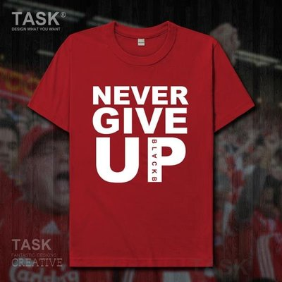 TASK 永不放棄Never Give Up利物浦逆轉短袖T恤男歐冠薩拉赫同款