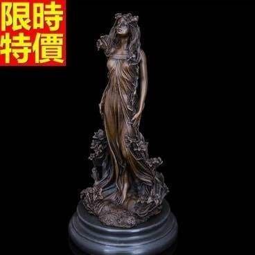 銅雕擺件 花仙子-現代品味歐式襬設雕塑工藝品66v20[獨家進口][巴黎精品]