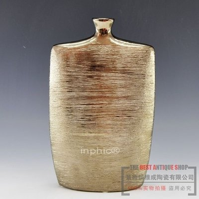 INPHIC-工藝品 家居陶瓷器花瓶 金酒壺扁瓶簡約歐式家具 台北市