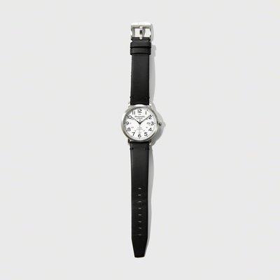 美國百分百【全新真品】Abercrombie & Fitch 麋鹿 AF 傳統經典皮革 手錶 腕錶 配件 黑色 H811