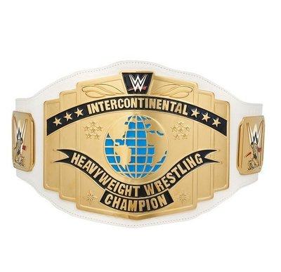☆阿Su倉庫☆WWE White Intercontinental Championship Belt 洲際冠軍腰帶
