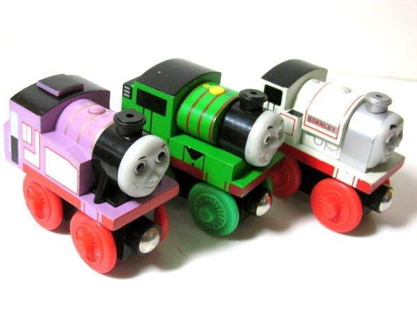 愛卡的玩具屋㊣正版 THOMAS 湯瑪士和他的朋友@ 磁性 原木小火車頭 @-胖款 超可愛3組一套