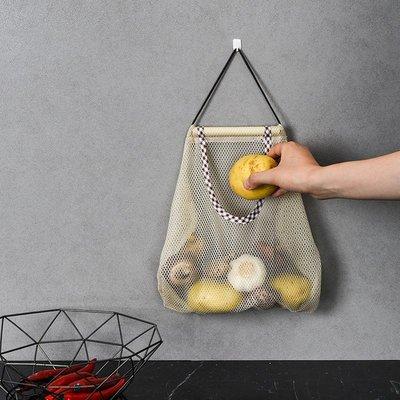 廚房收納袋-可掛式收納網袋 多功能掛袋 透氣 洋蔥 大蒜 蔬果收納袋 鏤空收納袋(寬款)_☆找好物FINDGOODS☆