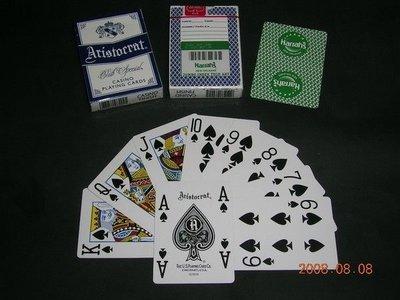 【USPCC撲克牌】HARRAHS STAR ARISTO 草綠撲克牌