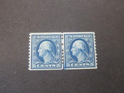 【雲品】美國USA 1919 Sc 496 pair MNH 庫號#67315