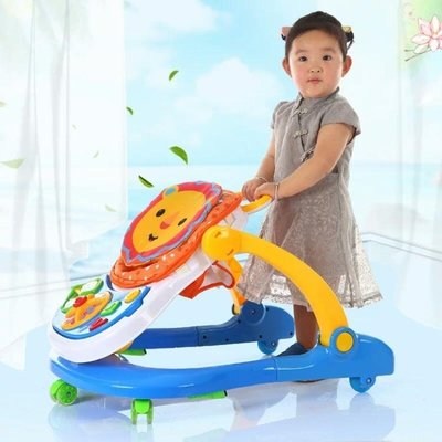 嬰兒學步車寶寶學步車6/7-18個月防側翻小孩助步車帶音樂手推可坐 igo