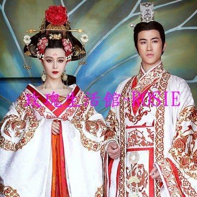 【玫瑰生活館】~ 2015皇帝,皇后結婚服裝,武媚娘傳奇~ 服裝訂製,不含帽