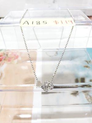淇淇城堡 韓國飾品 韓國帶回 A185 精緻愛心*水鑽愛心 短版項鍊 現貨