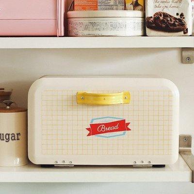 北歐簡約鐵皮麵包收納箱 桌面置物盒掀蓋烘焙麵包箱_☆優購好SoGood☆
