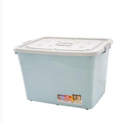 (免運)塑料收納箱特大號衣服加厚整理箱...