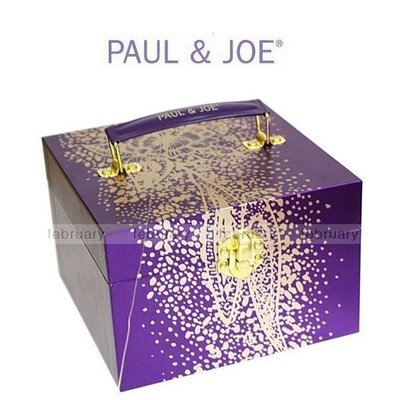 february 小舖 - [全新真品] PAUL & JOE 紫幻星沙化妝箱 彩妝盒 手提化妝箱
