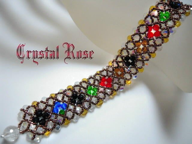 ※水晶玫瑰※ 韓國~璀璨琉璃手鍊(HAND7)~雙面皆可配戴