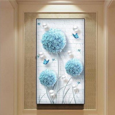 5d石畫2020新款花卉小幅點黏滿貼十字繡簡單繡客廳豎版簡約 〖新生活〗