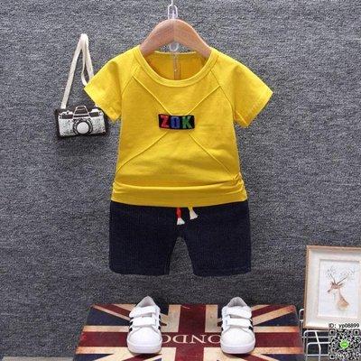 套裝  男寶寶短袖套裝1-2-3-5-7歲小童嬰幼兒洋氣兩件套潮裝 10款