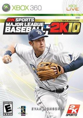 【二手遊戲】XBOX360 職棒大聯盟 2K10 Major League Baseball 英文版【台中恐龍電玩】