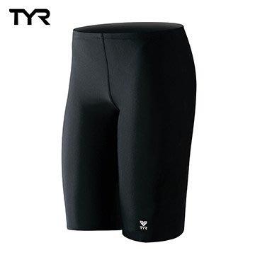 ~有氧小舖~ 美國品牌 TYR 男用馬褲黑色訓練款泳褲Solid Jammer