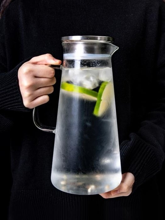冷水壺防爆家用耐熱高溫玻璃涼白開水杯曬水瓶大容-欣雅居