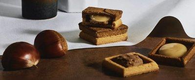《阿肥小舖》新上市🌰栗子口味 press butter sand 5入拆盒 中部地區限定 焦糖奶油餅乾 日本伴手禮