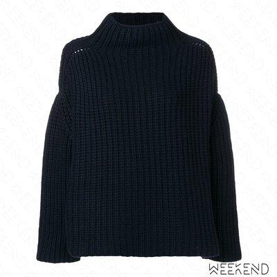 【WEEKEND】 EUDON CHOI 微高領 落肩 寬鬆 針織 毛衣 黑色