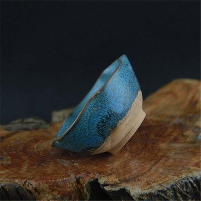 ㊣姥姥的寶藏㊣ 鈞窯花釉窯變荷花碗
