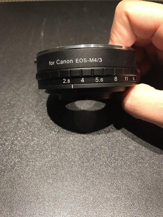 【eWhat億華】 Kamera 機身接環 Canon(EOS) - M4/3 (可調光圈) 現貨  【1】