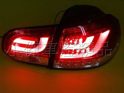 ☆小傑車燈☆超炫 VW福斯golf6代 golf 6 golf  09 年類R20光柱紅白晶鑽+LED方向燈 尾燈