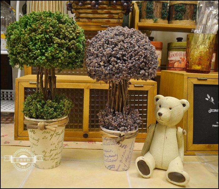 鄉村風 斯里蘭卡乾燥花盆植物 綠色/紫色盆栽 觀賞用花束小花擺飾拍照道具櫥窗陳列祝賀送禮品【歐舍家飾】