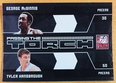 McGINNIS HANSBROUGH 2009-10 ELITE PASSING THE TTORCH 特卡 #14